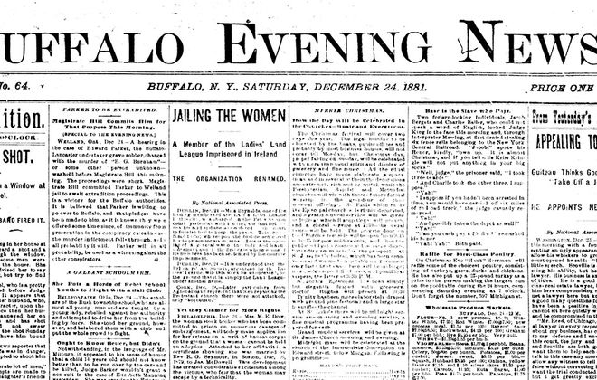 The Buffalo of Yesteryear: 'Merrie Christmas' and other holiday headlines from the 1880s
