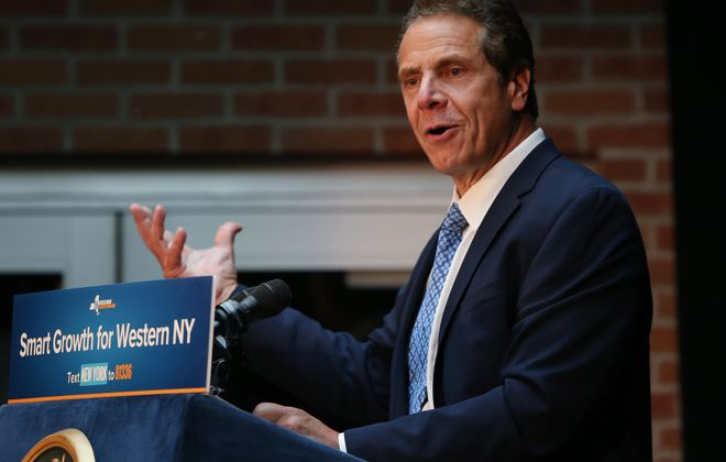 Gov. Andrew M. Cuomo has been holding fundraisers around the state. (Sharon Cantillon/Buffalo News)