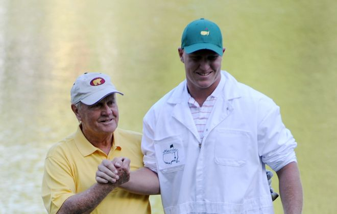 Jack Nicklaus and his grandson Nick O'Leary pictured in 2011. (Getty Images)