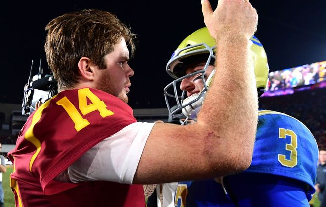 Sam Darnold (14) and Josh Rosen (3) could be two of the top picks in the NFL Draft. (Getty Images)