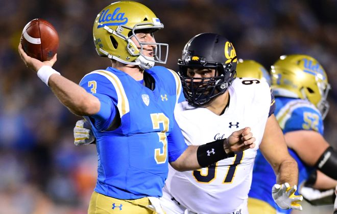 UCLA quarterback Josh Rosen could be a top-five pick if he declares for the NFL Draft after this season. (Getty Images)
