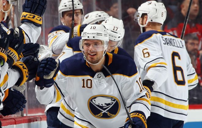 The Sabres scored two goals on three shots during the second period, including a tally by Jacob Josefson. (Getty Images)