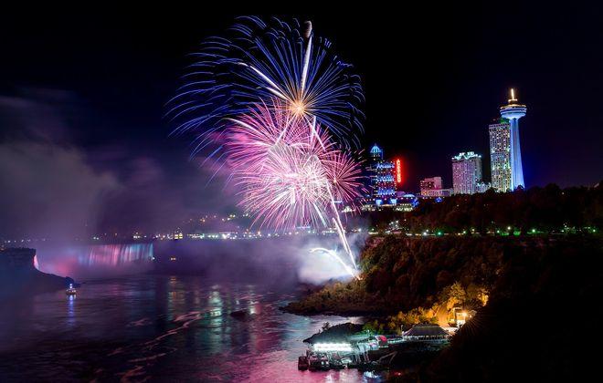 Fireworks over Niagara Falls. (News file photo)