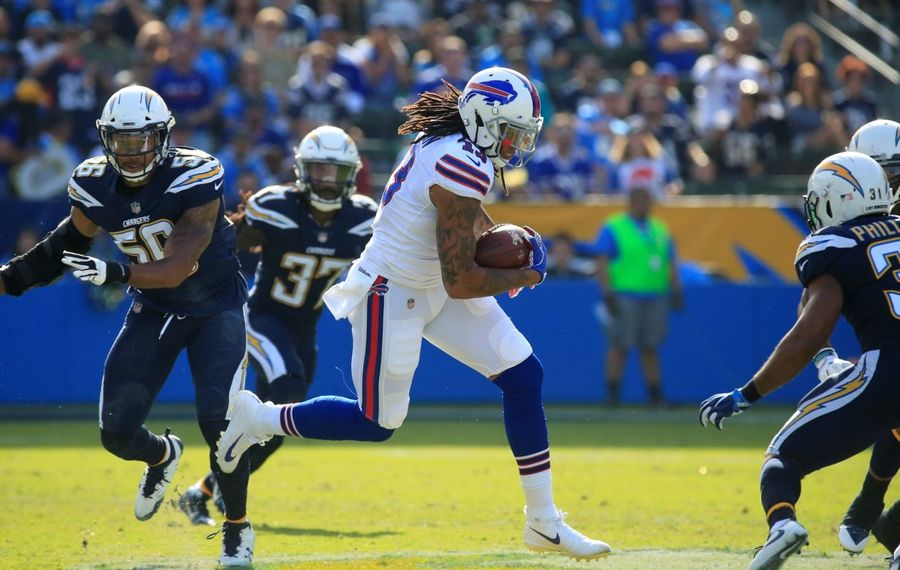 Kelvin Benjamin and the rest of the Bills' receivers are not thought of highly by the analytics website Pro Football Focus. (Harry Scull/Buffalo News)