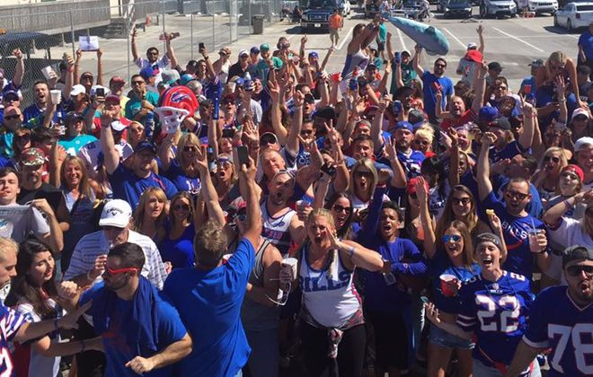 Bills Backers of Miami host the tailgate party when the Bills play at the Dolphins each season. (Contributed photo)
