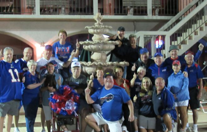 Bills fans in Fort Myers, Fla. meet at the Poolside Pub at Del Tura Country Club. (Photo contributed by Sandy Siwiec)