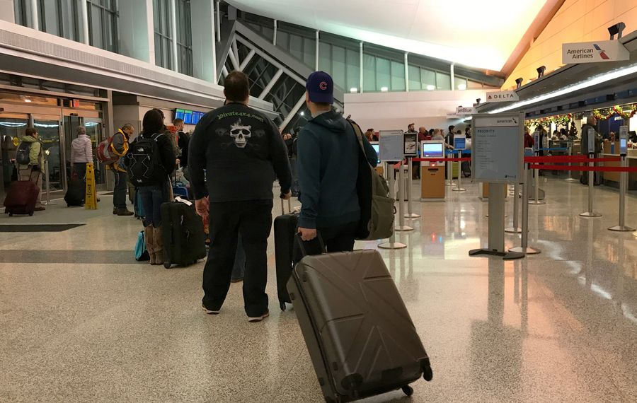 The number of passengers taking off from Buffalo Niagara International Airport is climbing for the first time in years, a fact that may help the airport lobby for even more flights to new destinations. (Cathaleen Curtiss/Buffalo News)