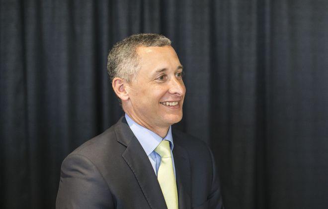 M&T Bank CEO Rene Jones, pictured on Tuesday, April 18, 2017.  (Derek Gee/Buffalo News)