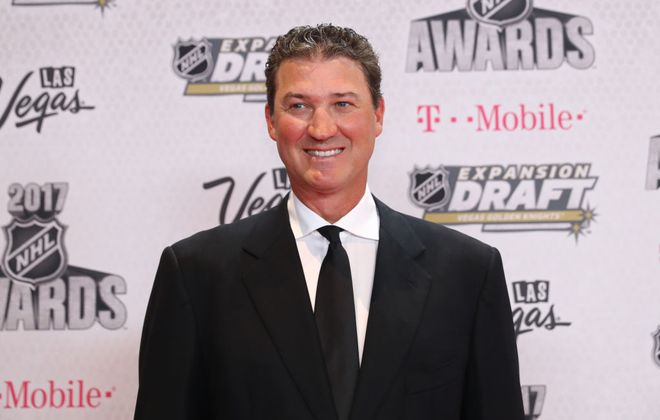 Penguins owner Mario Lemieux produced the greatest moment in the NHL's first 100 seasons .(Getty Images)