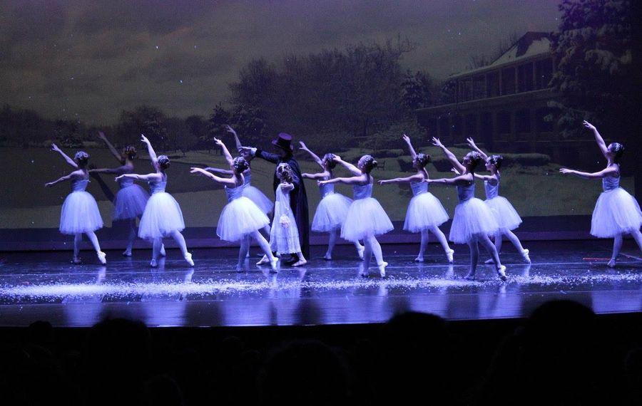 "Dancer in Configuration Dance Theatre's ""The Nutcracker"" dance against the backdrop of Hoyt Lake. (Photo courtesy Configuration Dance Theatre)"