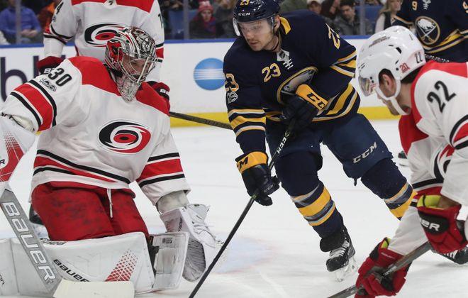 The Sabres need Sam Reinhart to keep driving the net (James P. McCoy/Buffalo News).
