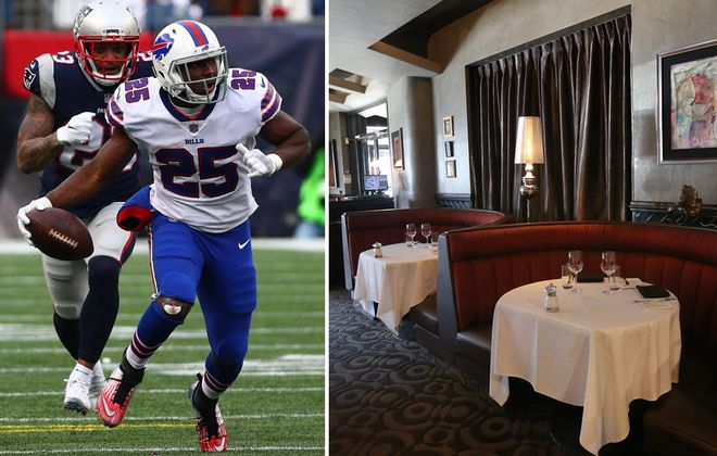 How will LeSean McCoy and the Buffalo Bills' late kickoff affect New Year's Eve dining reservations? (News file photos)