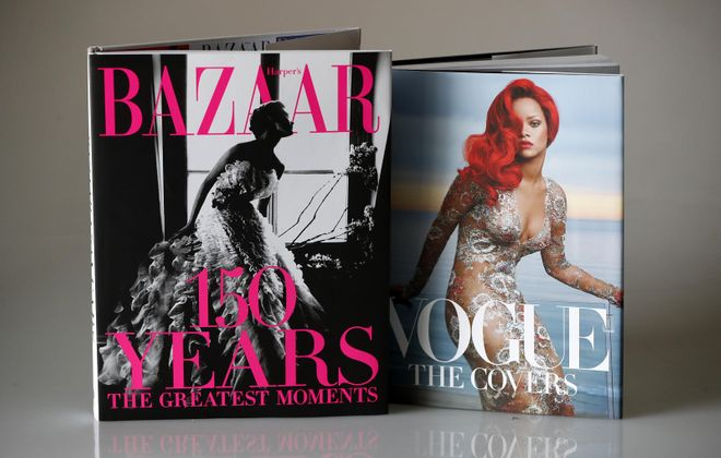 """""""Vogue: The Covers (Updated Edition),"""" by and """"Harper's Bazaar: 150 Years – the Greatest Moments."""" (Mark Mulville/Buffalo News)"""