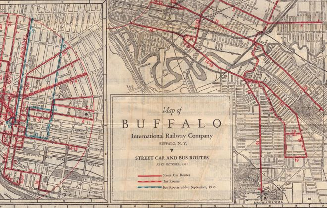 In 1935, Buffalo boasted an extensive streetcar system that could take you practically anywhere.