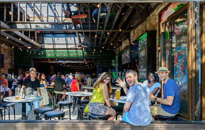 The restaurant, shopping and arts scene in Columbus' Short North District is vibrant and eclectic. (Ohio Stock Photography)