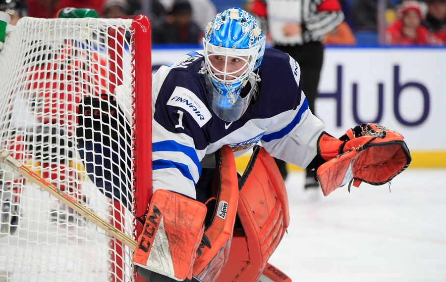 Finland goaltender and Sabres prospect Ukko-Pekka Luukkonen  made 28 saves in a 4-2 loss to  Canada (Harry  Scull  Jr./Buffalo News).
