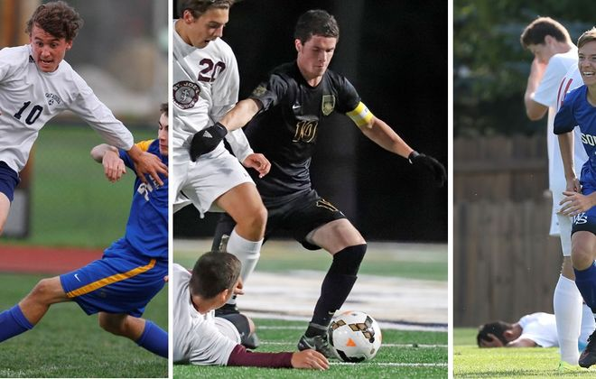 Former East Aurora standout Joe Vucic, Sweet Home alum Noah Keem and Williamsville South product Jared Burns all had impressive seasons in college. See where they landed and how they fared. (News file photos)
