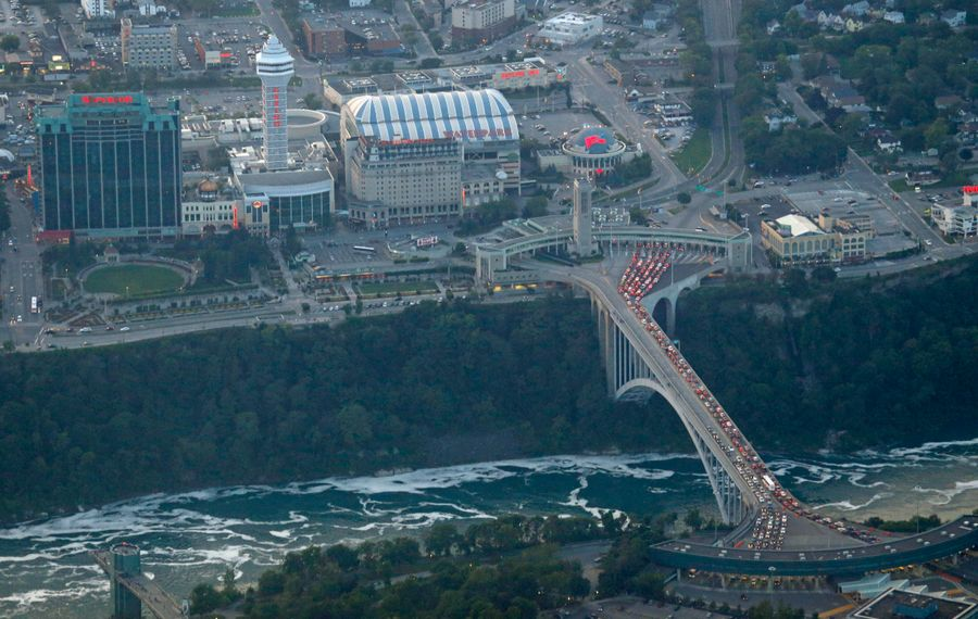 """Niagara Falls, Ont., is booming with attractions and """"is a much greater draw from a tourism perspective,"""" says William Frye, associate professor of hospitality and tourism management at Niagara University.  (Derek Gee/Buffalo News file photo)"""