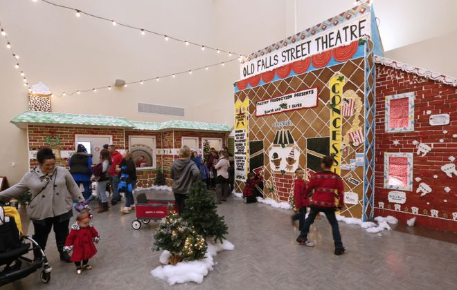 A gingerbread house was built by Niagara Culinary students as part of the holiday kick-off on Old Falls Street in Niagara Falls last year.  (Robert Kirkham/News file photo)