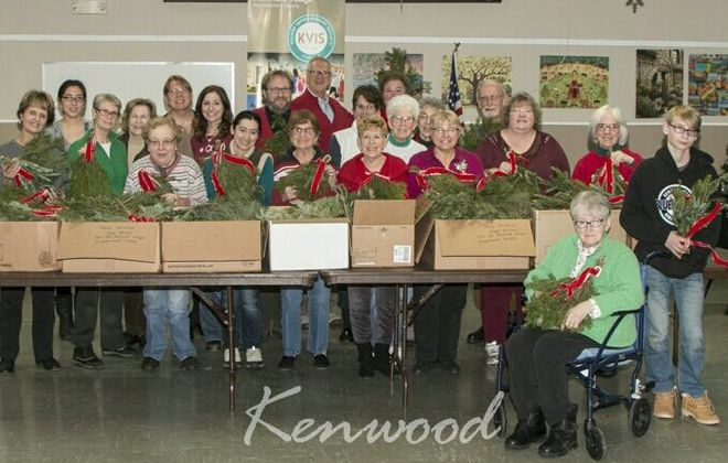 Pine swags provided to seniors in Kenmore by the Kenmore Village Improvement Society.