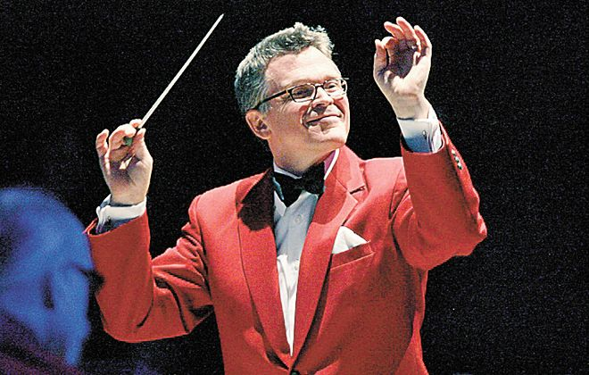 John Morris Russell, the Buffalo Philharmonic Orchestra's principal pops conductor, returned to lead the Holiday Pops concert. (File photo)