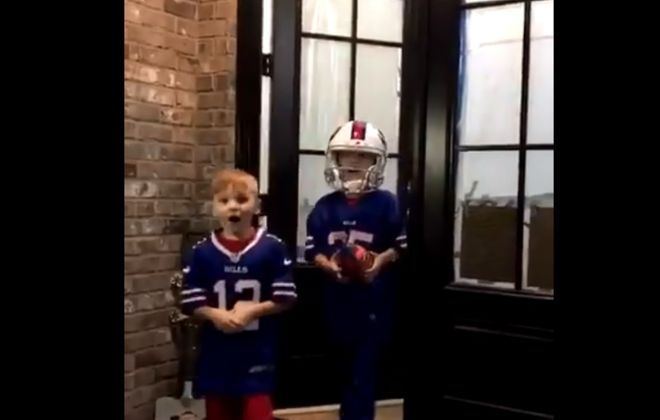 These parents win Christmas by building a Bills football field in backyard