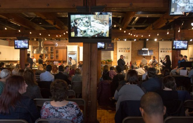 Spectators take in the chef battle at Nickel City Chef. (Meredith Forrest Kulwicki/Special to The News)