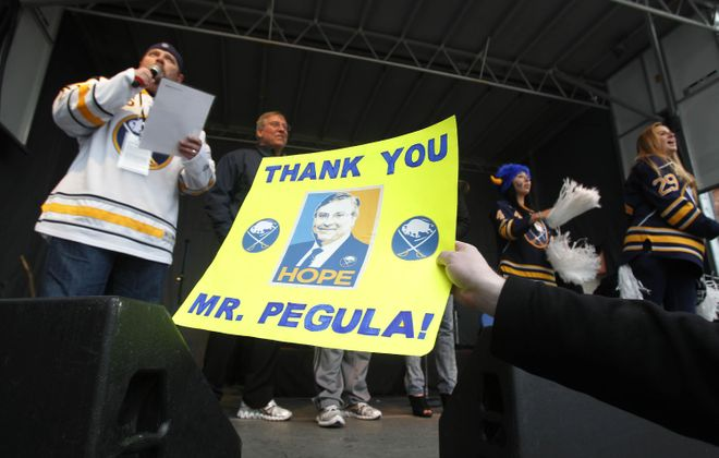 After stepping up to buy the Bills and the Sabres, Terry and Kim Pegula now want to help improve Buffalo Public School athletics through their Pegula Sports and Entertainment, along with locally-based ADPRO Sports. (Mark Mullville/Buffalo News file photo)