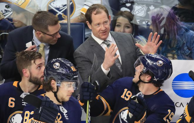 Sabres coach Phil Housley.(Harry Scull Jr./Buffalo News)