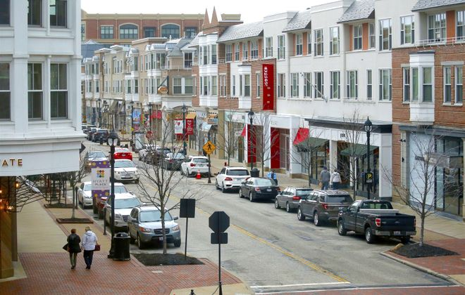 A glimpse of Crocker Park, a town center which Eastern Hills Mall has held up as a model for its redevelopment. (Robert Kirkham/Buffalo News)