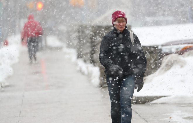 A wintry mix is expected across Western New York today. It'll be Buffalo's fifth consecutive Wednesday with significant winter weather. The National Weather Service has posted a winter weather advisory. (Sharon Cantillon/Buffalo News file photo)
