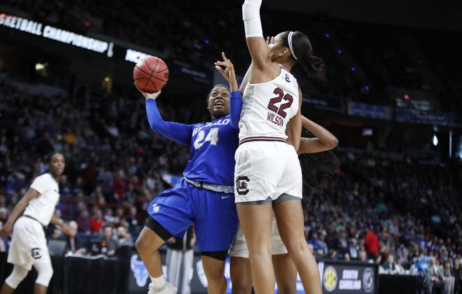 Buffalo guard Cierra Dillard and the rest of the Bulls will host national power Stanford in Alumni Arena in December. (Harry Scull Jr./ Buffalo News)