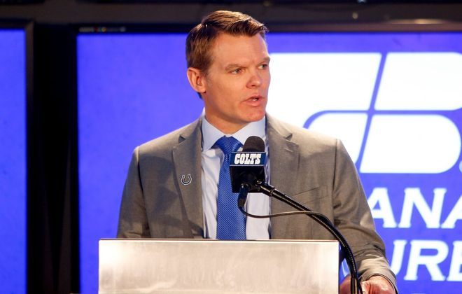 Indianapolis Colts GM Chris Ballard envisions teams figuratively storming his doors for the third pick of the NFL Draft.  (Michael Reaves/Getty Images)