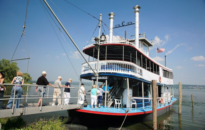 The Chautauqua Belle offers steamboat cruises for lunch, evening cocktails, fireworks, private charters and more. (Chautauqua County Visitors Bureau)