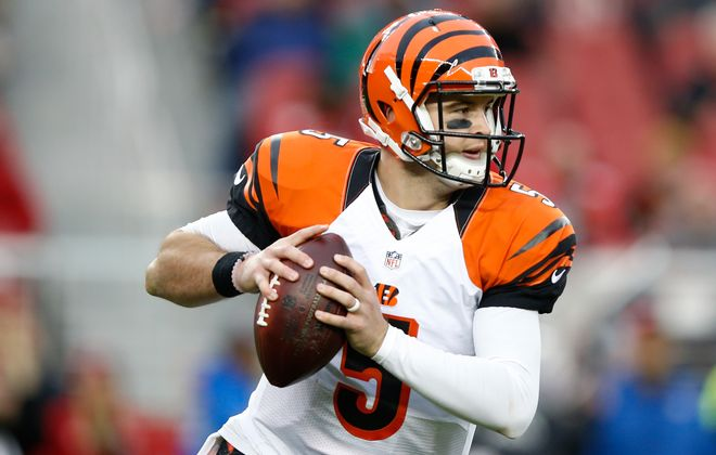 AJ McCarron wowed his coaches in Cincinnati with his leadership acumen and competitiveness. (Ezra Shaw/Getty Images)