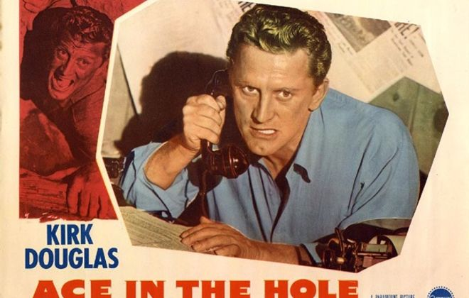 """Kirk Douglas gave one of the best performances of his career in """"Ace in the Hole."""""""