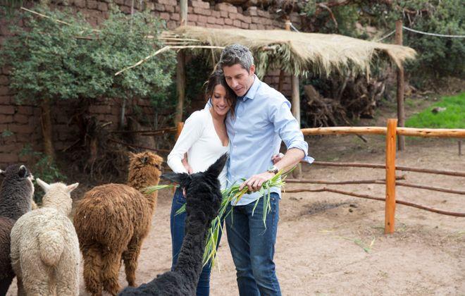 "Becca Kufrin and Arie Luyendyk Jr. on ""The Bachelor."" (ABC/Paul Hebert)"