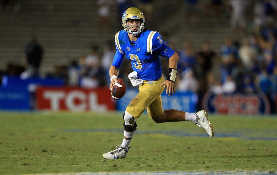 UCLA quarterback Josh Rosen is the Buffalo Bills' pick in The Buffalo News' final mock draft of 2018. (Getty Images)