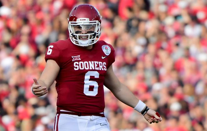 Although he lacks ideal height and isn't the most disciplined player, Baker Mayfield is a highly talented thrower and is as competitive a quarterback as any the draft has seen, Vic Carucci says. (Getty Images)