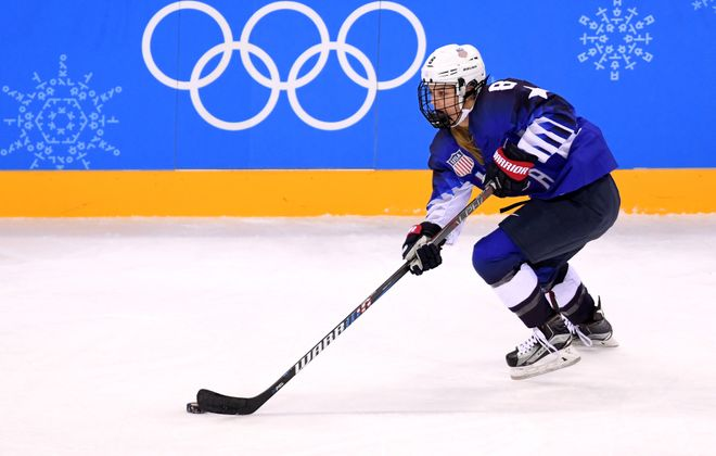 Emily Pfalzer helped the United States beat Canada for Olympic gold last month. (Getty Images)