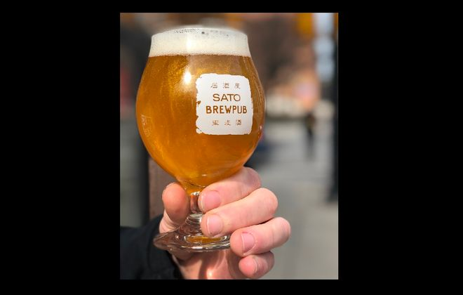 A glitter beer from Sato Brewpub, which will be available March 23 at the brewery. (Via Sato Brewpub)