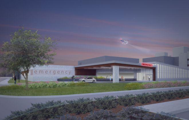 An artist's rendering of the  new ECMC emergency department.