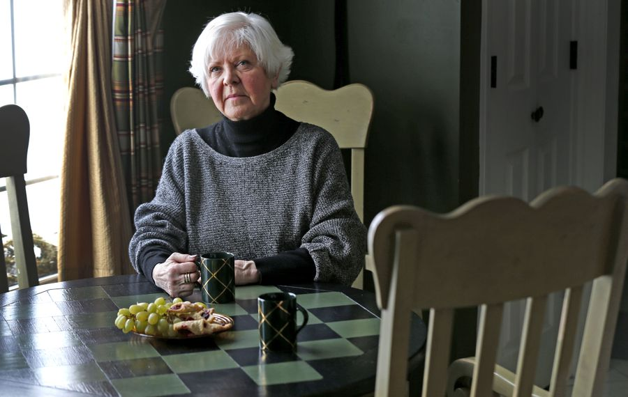 Judith Burns-Quinn is the Buffalo coordinator of a national organization called Survivors Network of those Abused by Priests (SNAP).  She often meets victims at her Hamburg home to help them with their healing.  (Robert Kirkham/Buffalo News)