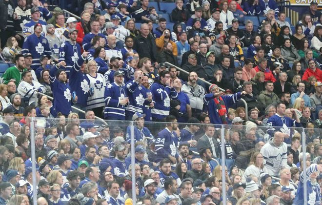 Toronto Maple Leafs fans dominated the stands Thursday night in KeyBank Center (James P. McCoy/Buffalo News).