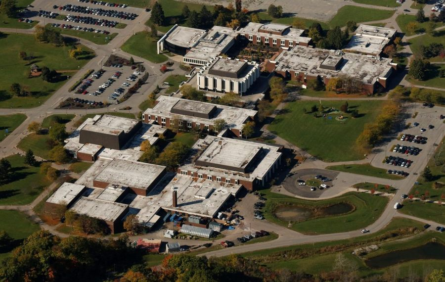 An aerial view of the Niagara County Community College campus. (Derek Gee/News file photo)