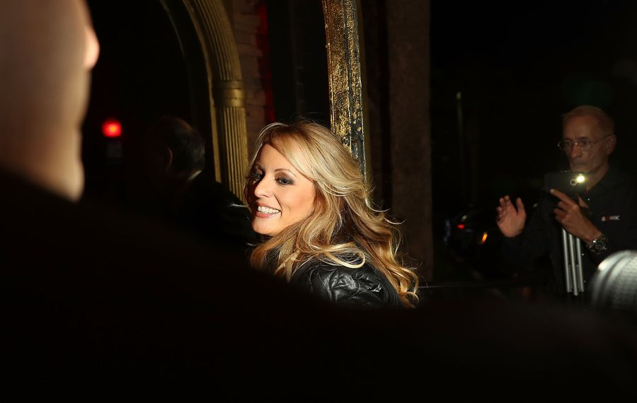 Porn star Stormy Daniels is doing more than making salacious allegations. (Getty Images)