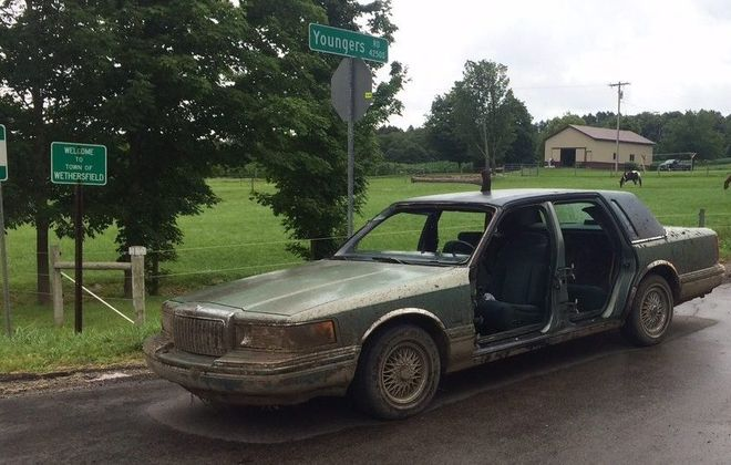 """Deputies responding to a """"suspicious vehicle"""" report in July 2017 found this car and Jared T. Price, who they said  appeared to be under the influence of drugs. (Photo from Wyoming County Sheriff's Office)"""