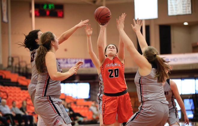 Katie Price scored 14 of her 16 points in the second half to lead Fredonia to a 42-39 win over Southwestern in the overall Class B championship. (Harry Scull Jr./Buffalo News)