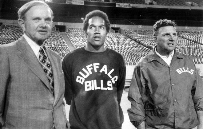 Ralph Wilson, OJ Simpson and Lou Saban (Buffalo News file photo)