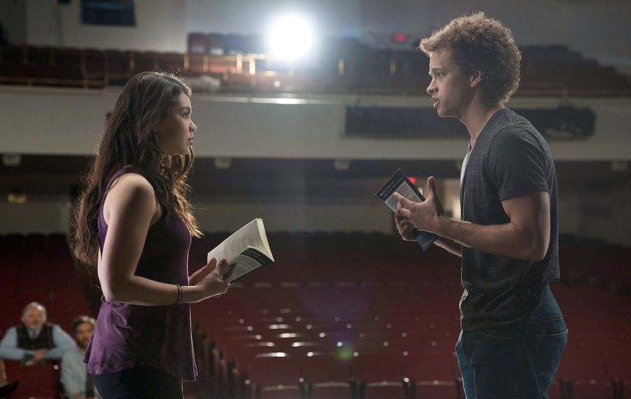 """Auli'i Cravalho, left, and  Damon J. Gillespie star in the new NBC high school musical drama """"Rise."""" (Photo by Peter Kramer/NBC)"""